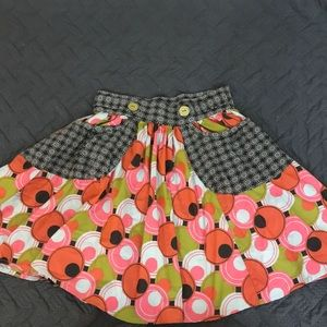 MATILDA JANE SKIRT EUC 12 orange green blue